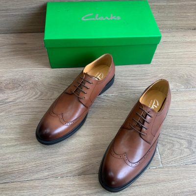 Clarks Lace Up Half-Brogues