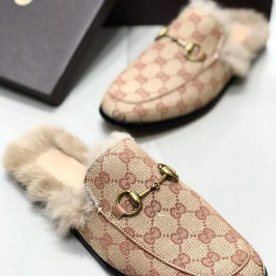 Gucci Fur Mules